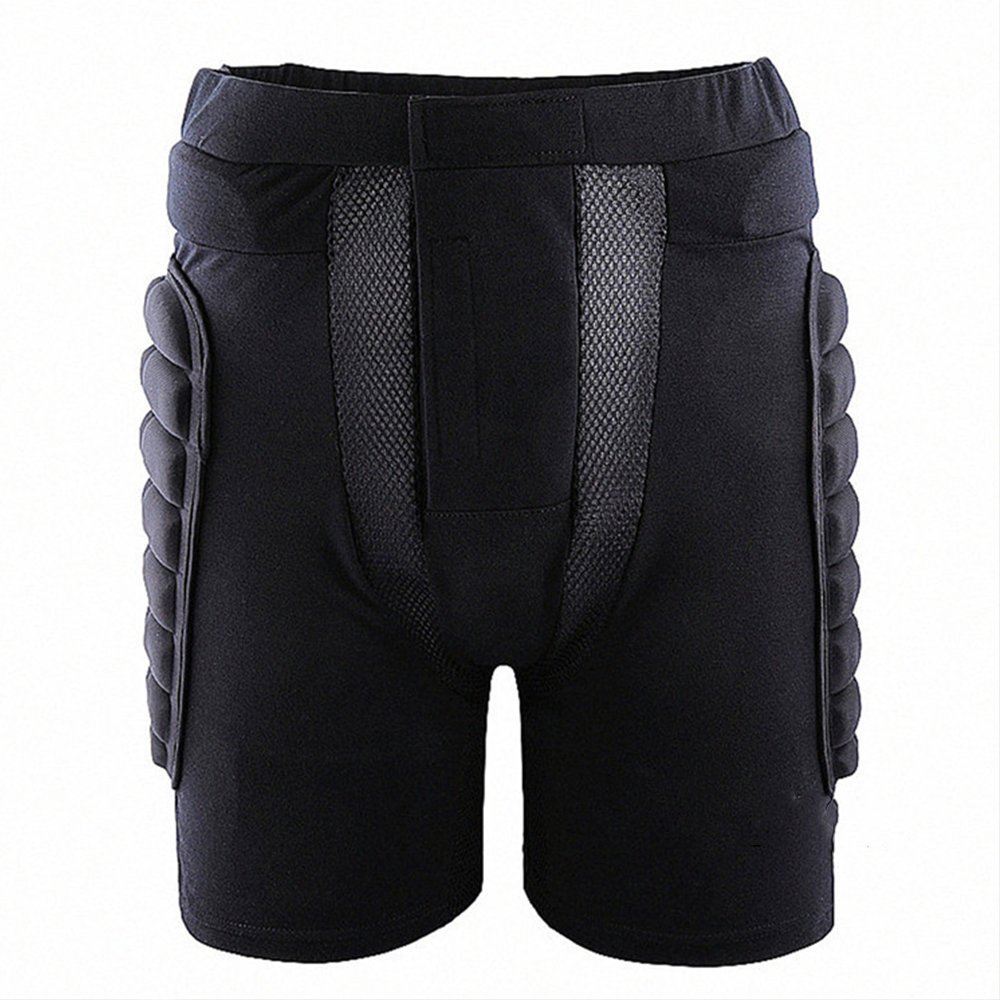 Forfar Padded Protective Shorts Hip Butt Pad Short Pants Heavy Duty Protective Gear Guard Drop Resistance for Ski Skiing Skating Snowboard Cycling Fits for Kids/Teens/Adults