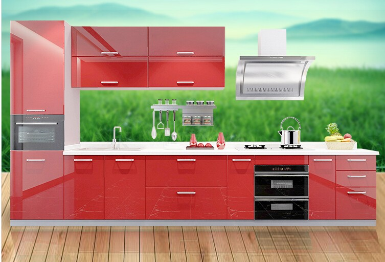 Pvc Kitchen Cabinet/european Style Modern Flat Pack Kitchen ...