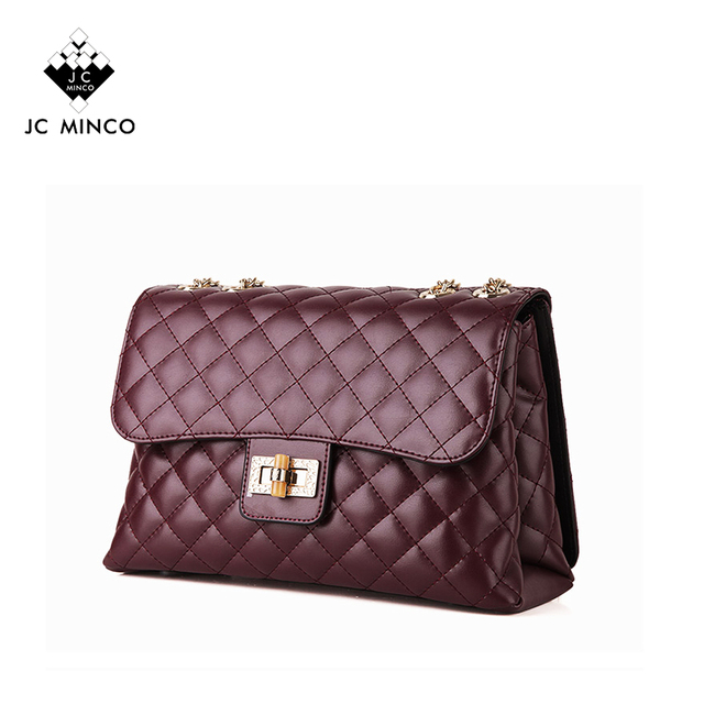 2017 Hot Goat Leather Quilted Cc Design Luxury Style Top Brand Handbags
