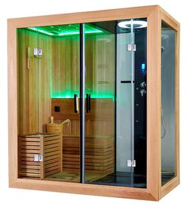 2019 latest design dry steam sauna wet steam room combination