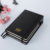 Customized Classic Pu Writing Black  Diary Wholesale Pocket Cheap Leather Notebook