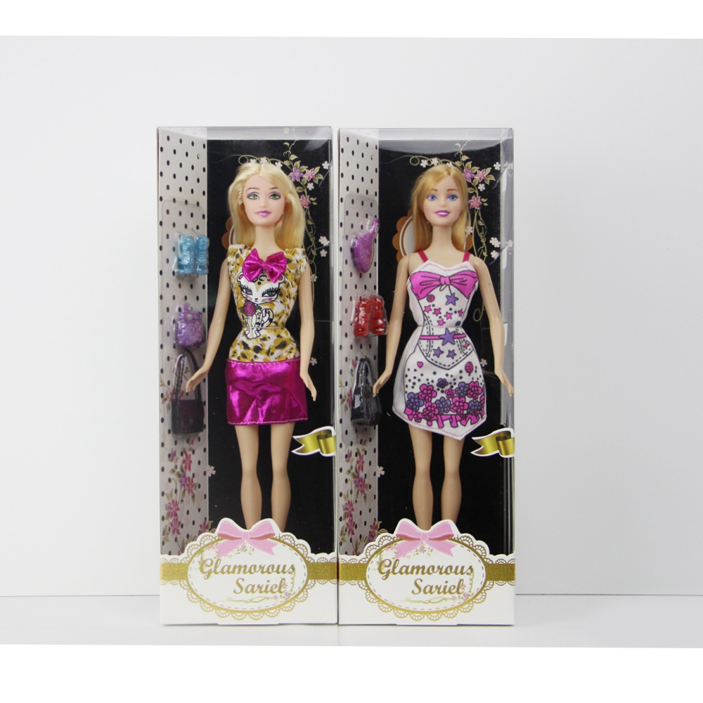 Baby girl toy doll con pretty gonna e scarpe alla moda