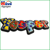 3d PVC fridge magnet words for company promo gifts