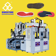 Two station shoe sole production machine