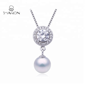 Wholesale Freshwater Pearls 925 Sterling Silver Round Pearl Custom Bulk Charms
