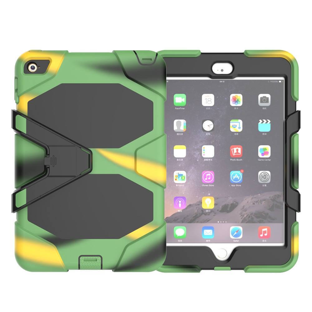 Fashion case for ipad mini4 tablet waterproof silicone cover for mini4 with kickstand case
