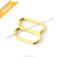 Hot sell bra strap hook metal bra adjuster available in gold and silver color swimwear accessories.