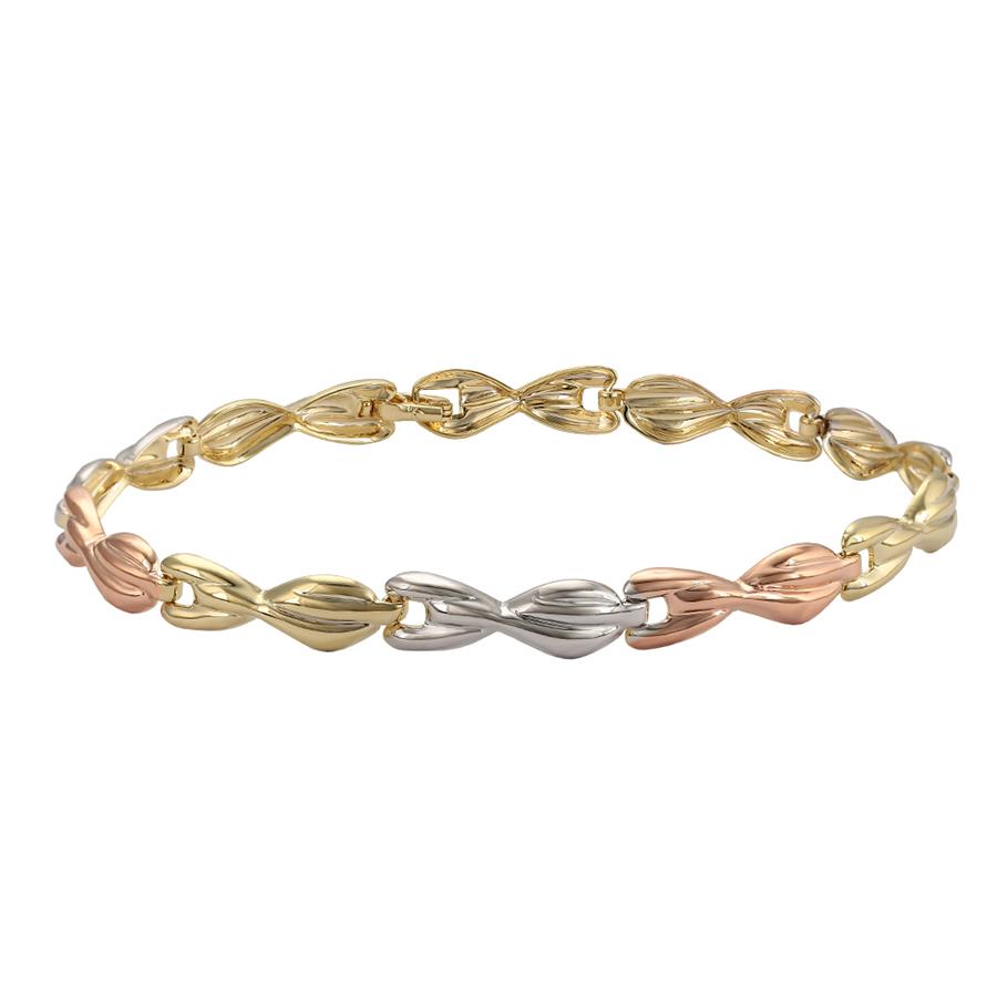 Fashion Strass Multicolore 18K Or Jaune Plaqué Tennis Bracelet