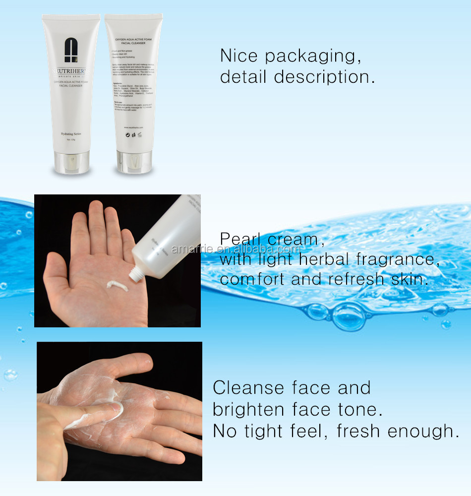 100% Herbal Collagen Facial Cleanser Whitening Facial Cleanser ...