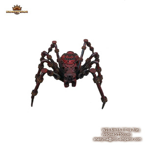 Wholesale sculpture abstract hand carved metal spider garden sculpture animal for garden decoration