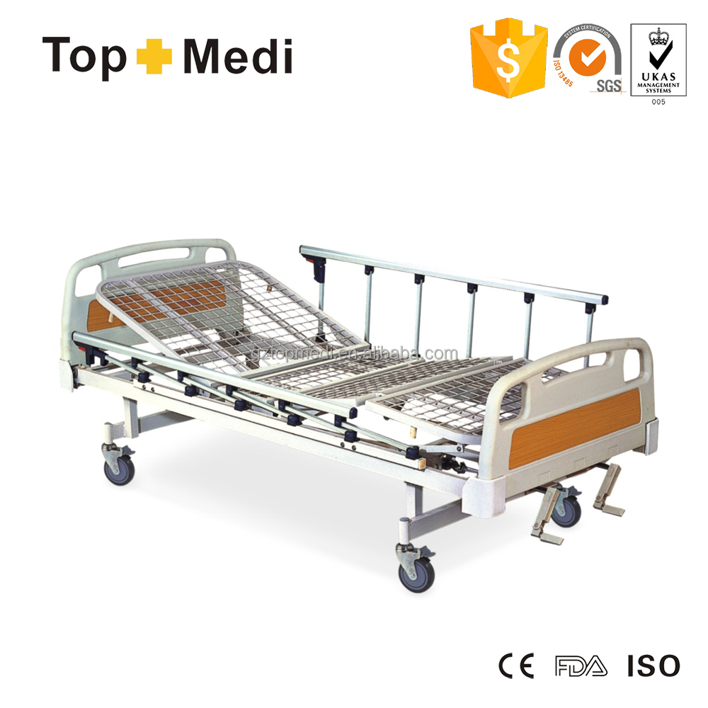 FDA CE plegable cama de Hospital Manual para el hospital y domiciliaria utilizado