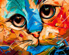 paintboy diy painting by numbers with new hot selling cat designs