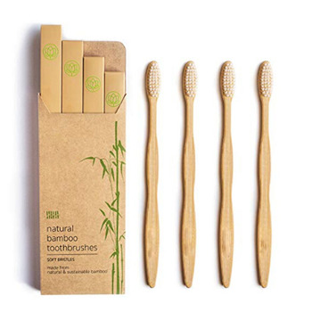 Wholesale hot sale eco friendly organic biodegradable charcoal soft travel toothbrush bamboo