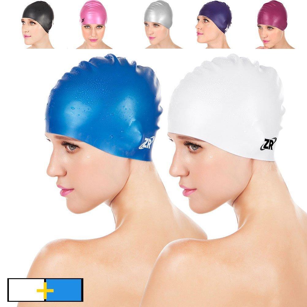 656bb9bd6189  New Arrival ZIONOR Manatee C3 Premium Silicone Swim Caps for Men Women