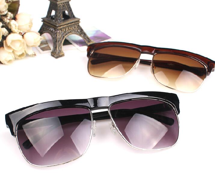 341167aa83c Get Quotations · designer Inspired Classic Half Frame Wayfer Sunglasses