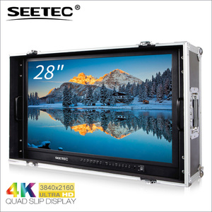 "Seetec 28"" 3840x2160 carry-on broadcast director monitor Ultra HD with sdi hdmi 2.0 inputs"