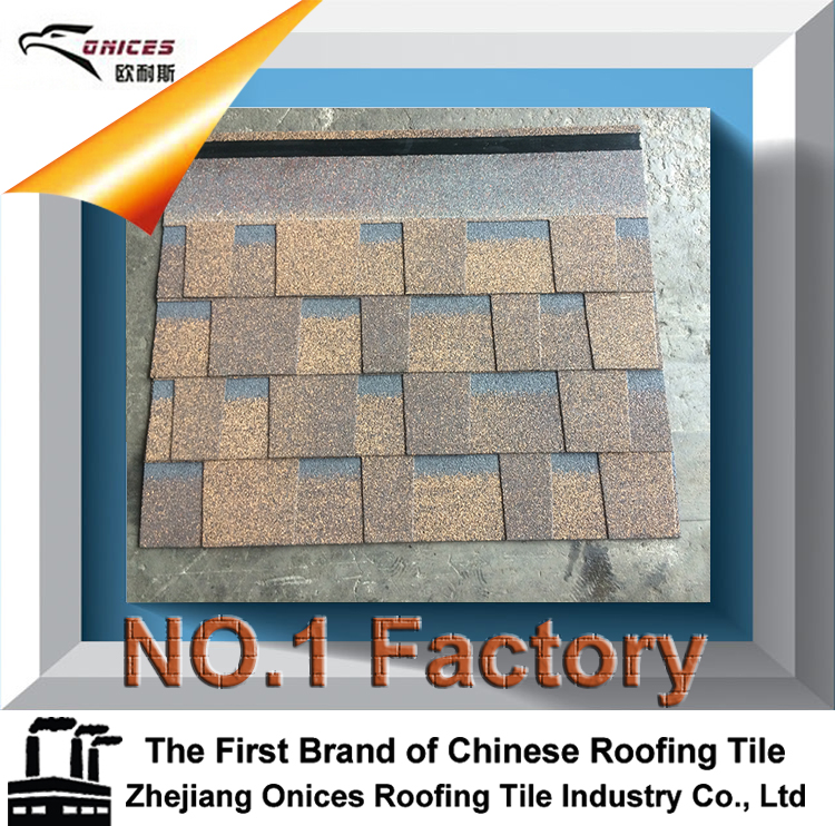 12 Colors Double Style Fiberglass Asphalt Roofing Shingles / Building Materials For Construction