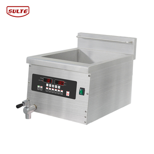 KFC equipment counter top electric induction fryer, commercial induction deep fryer