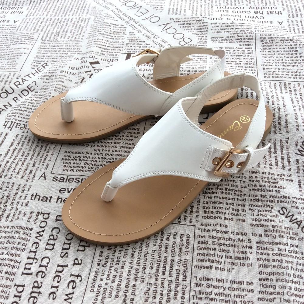 0739bf9efcd0 New Womens Flat Sandals T-strap Thong Flip Flops Shoe Summer Sandals  Comfortable Sandal Shoes