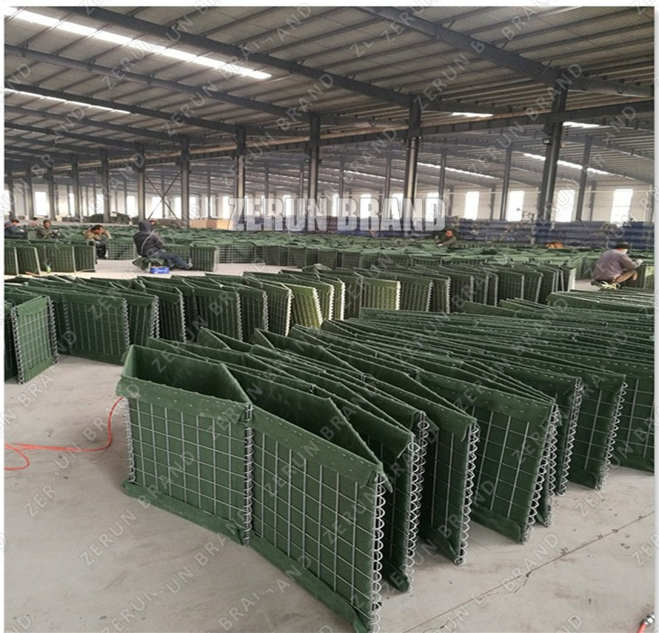 ZERUN MIL1 MIL2 MIL7 MIL10 Hesco type military sand wall hesco barrier/hesco barrier cost/welded gabion box for sales