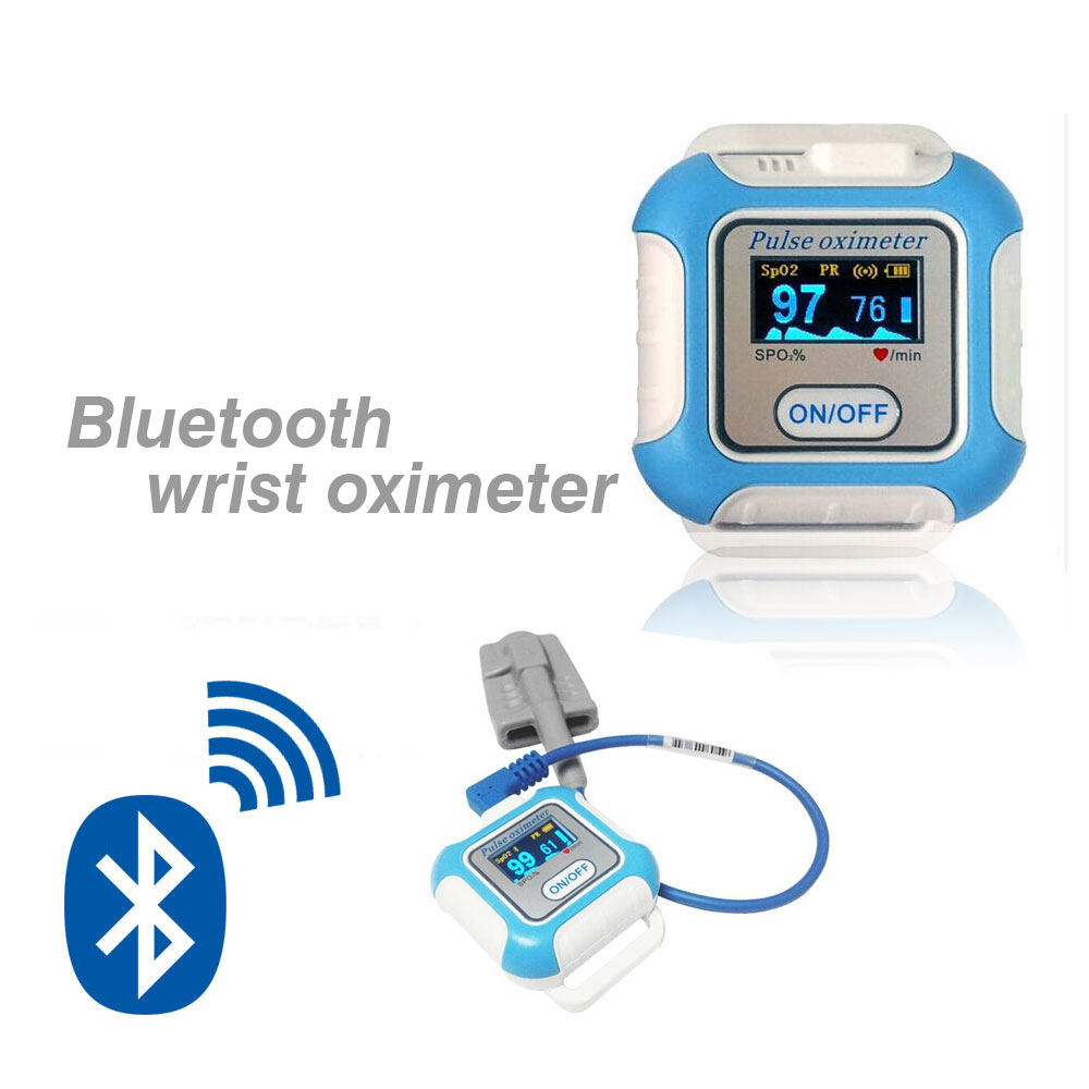 CE FDA FCC SPO2 meter for IOS android PC bluetooth wrist pulse oximeter
