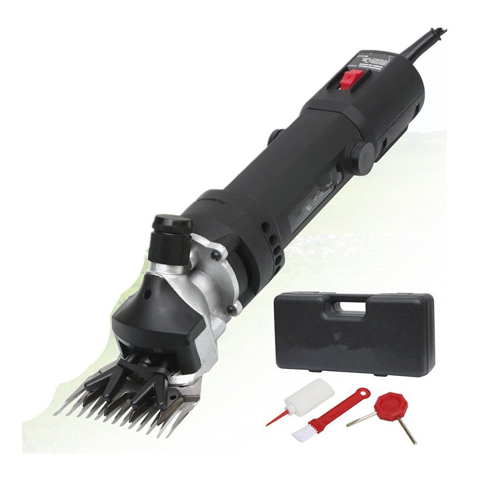 Sheep Shears Goat Clippers Animal Shave Grooming Farm Pet Supplies Livestock, 320W-Constant speed-9 tooth Bend knife