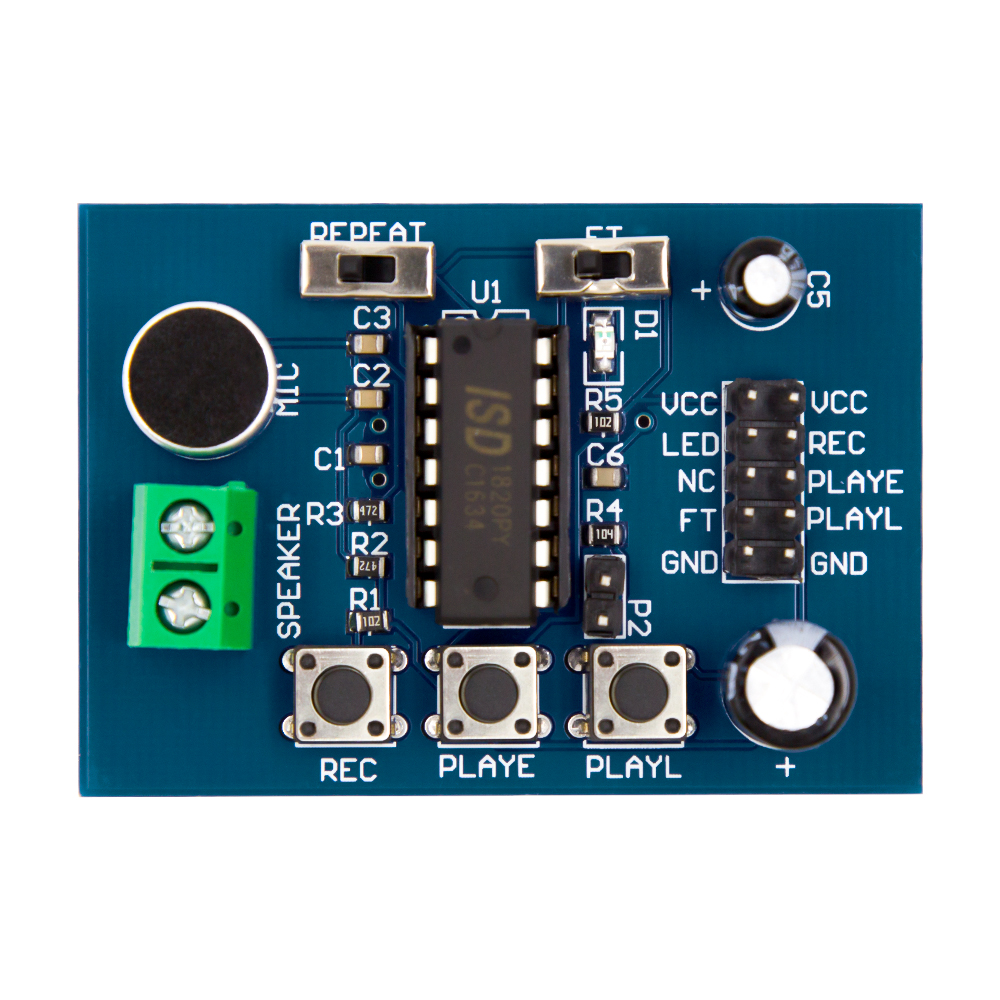 2017 Factory Outlet ISD1820 Sound / Voice Board Recording and Playback Module for Uno R3