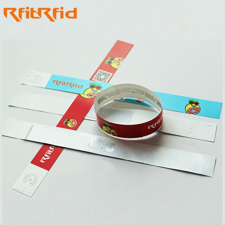 one time disposable uhf long range passive rfid wristband