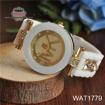 Dial White Gold bracelet with white crystal wrist watch WAT1779 White Watch