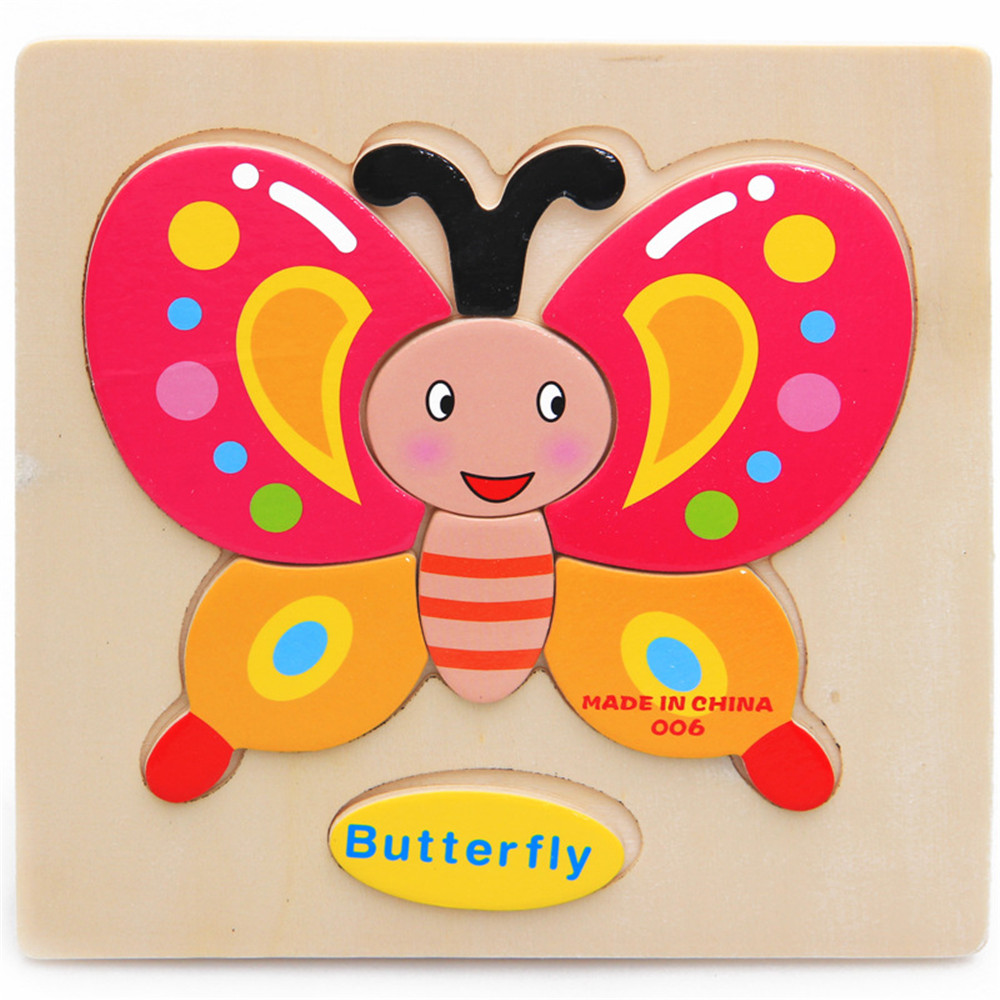Factory Direct Price Kids Jigsaw Educational Wooden Cute Pattern Puzzle