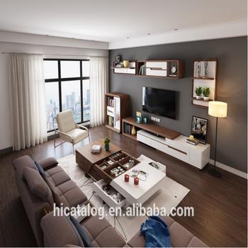 Mdf Veneer High Glossy White Living Room Furniture Modern Tv Cabinet ...