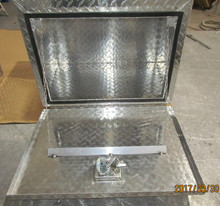 Aluminum Front Open Tool Box, Diamond Plated, Silver