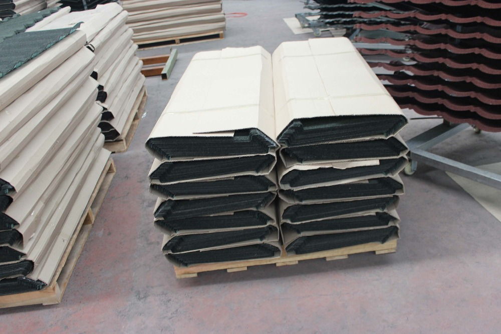 2015 Low Price Natural Colorful Stone Coated Metal Roofing