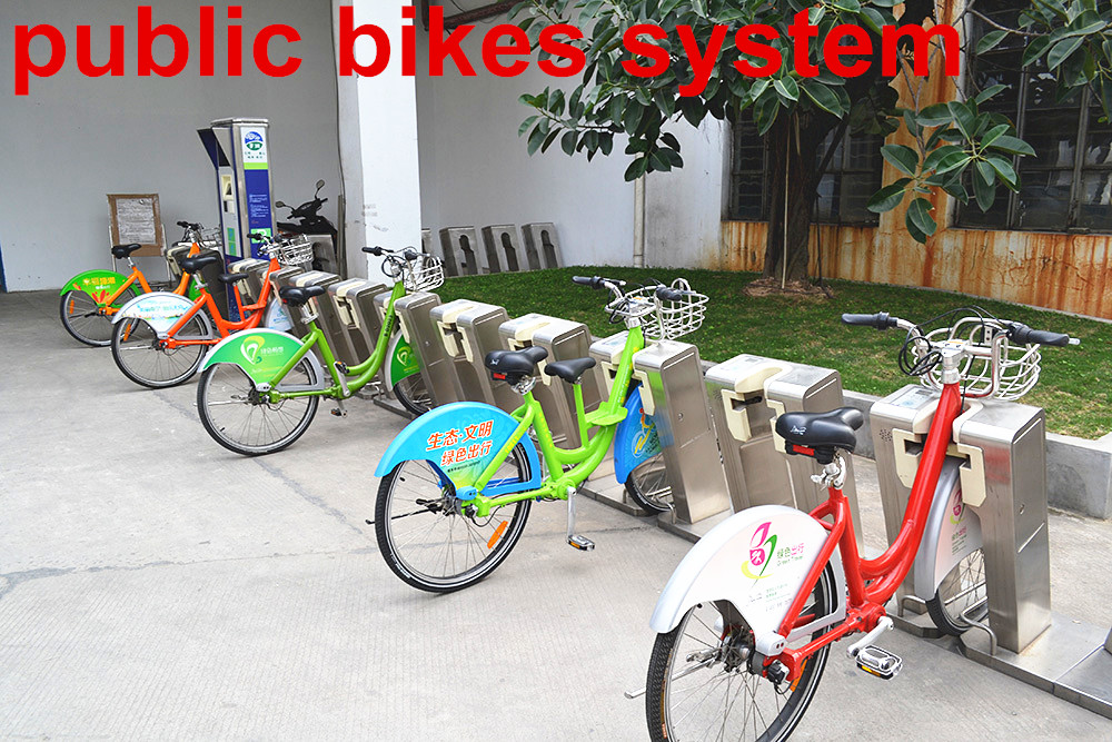 city rental bicycle with aluminum alloy frame, self rent urban shaft drive bike without chain
