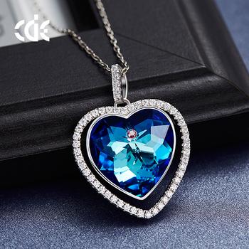 Cde crystals from swarovski blue crystal heart pendant necklace cde crystals from swarovski blue crystal heart pendant necklace aloadofball Images