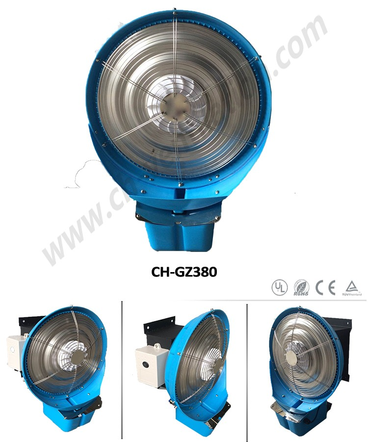 outdoor portable water spray cooling fan water mist fan