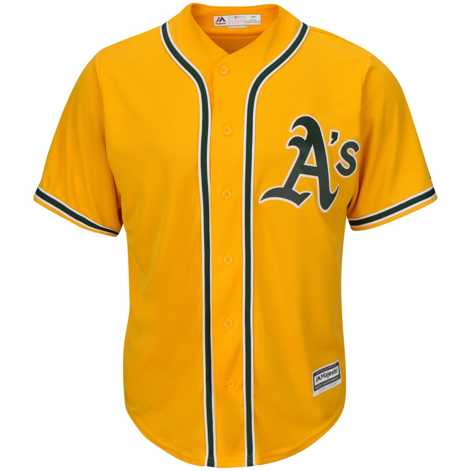 low priced a7726 81b3b Get Quotations · Oakland Athletics Blank Yellow Kids Cool Base Alternate Replica  Jersey