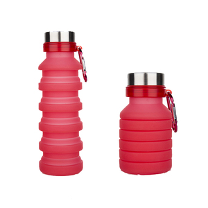 Hot sale travel novelty product folding silicone water bottle