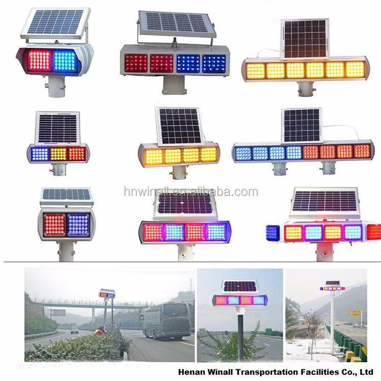 Led Traffic Warning Light Solar Powered Lighting Solar