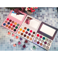 New 15 Color pigment custom no logo glitter eyeshadow private label eye shadow palette