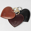2016 New Products Heart Shape Embossed RFID Leather Keychain with NFC Chip Inside