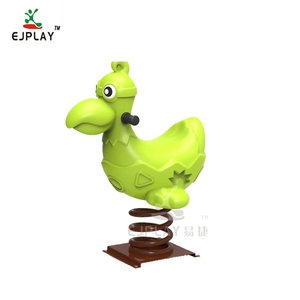 Cock Shape Outdoor Playground Plastic Spring Rocking Horse And Toy Spring Rider