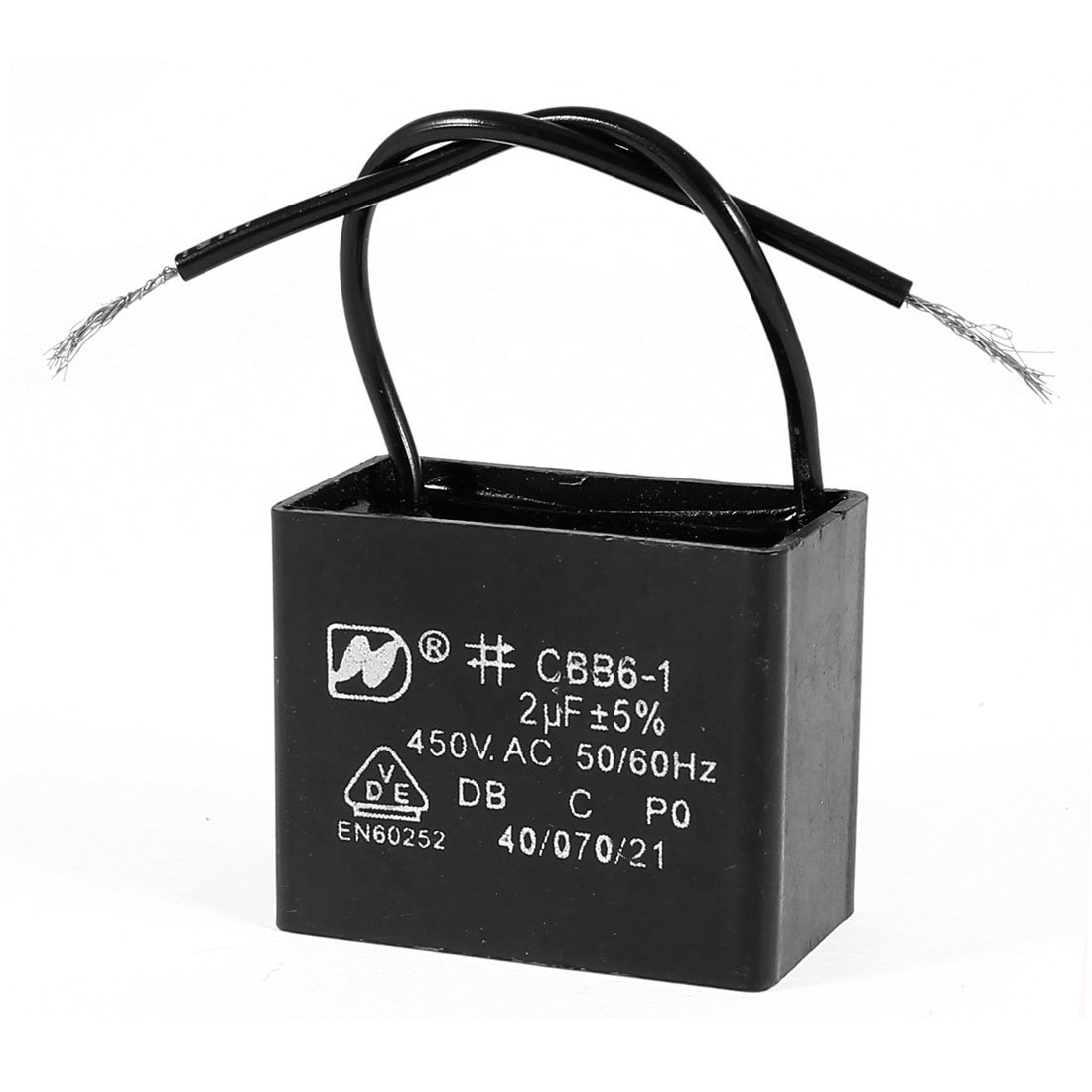 Cheap Motor Capacitor Wiring Diagram Find Regal Beloit Diagrams Get Quotations Uxcell Ac 450v 2uf Rectangular Black Working Cbb61
