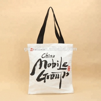 Ginzeal Custom Print Cotton Canvas Woman Plain Tote Bag