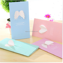 3D Angel wings Lovely Greeting Gift Card Paper