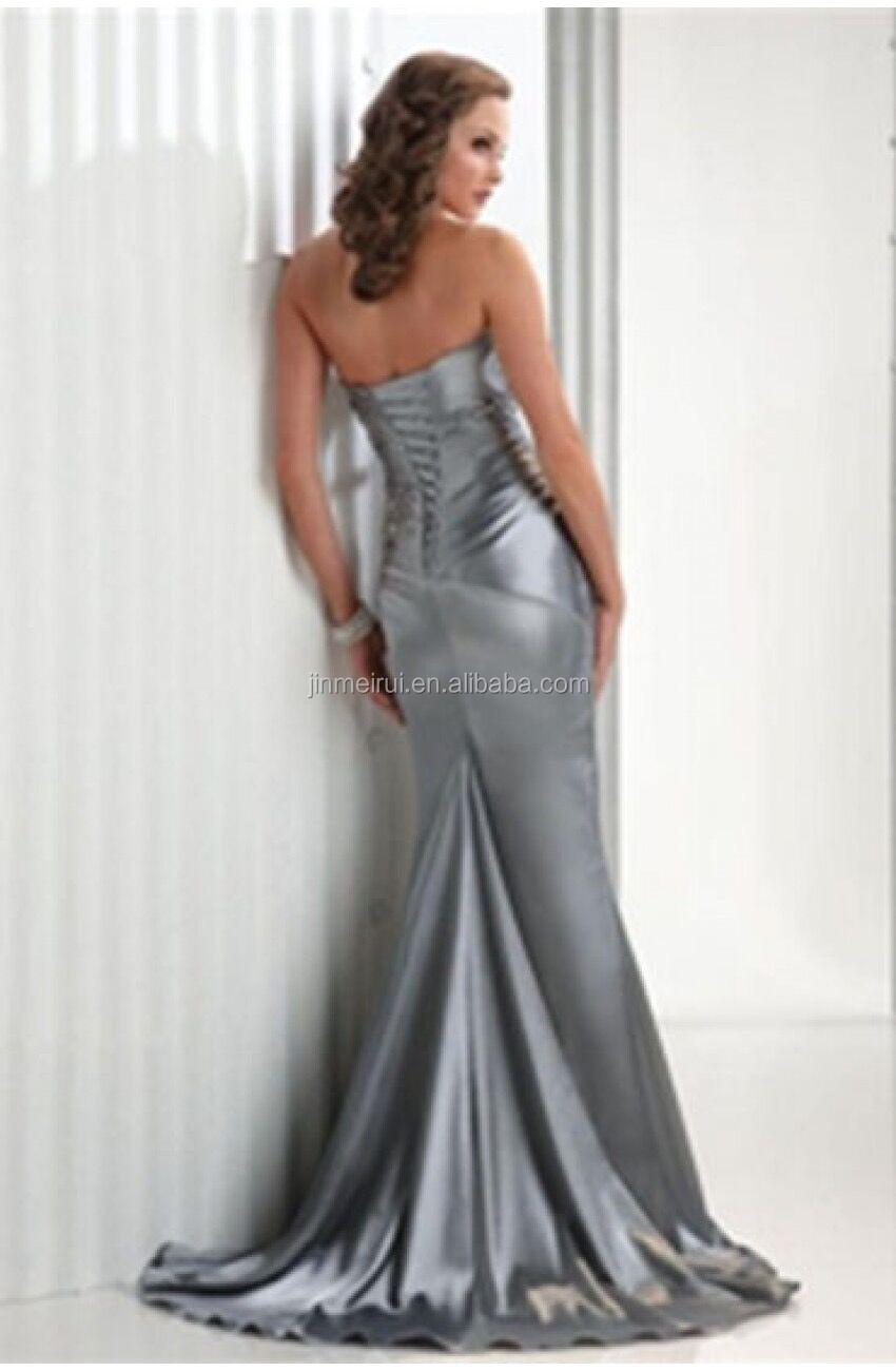 Royal Blue Abendkleider Silber Grau Hohe Qualität Vestidos De ...