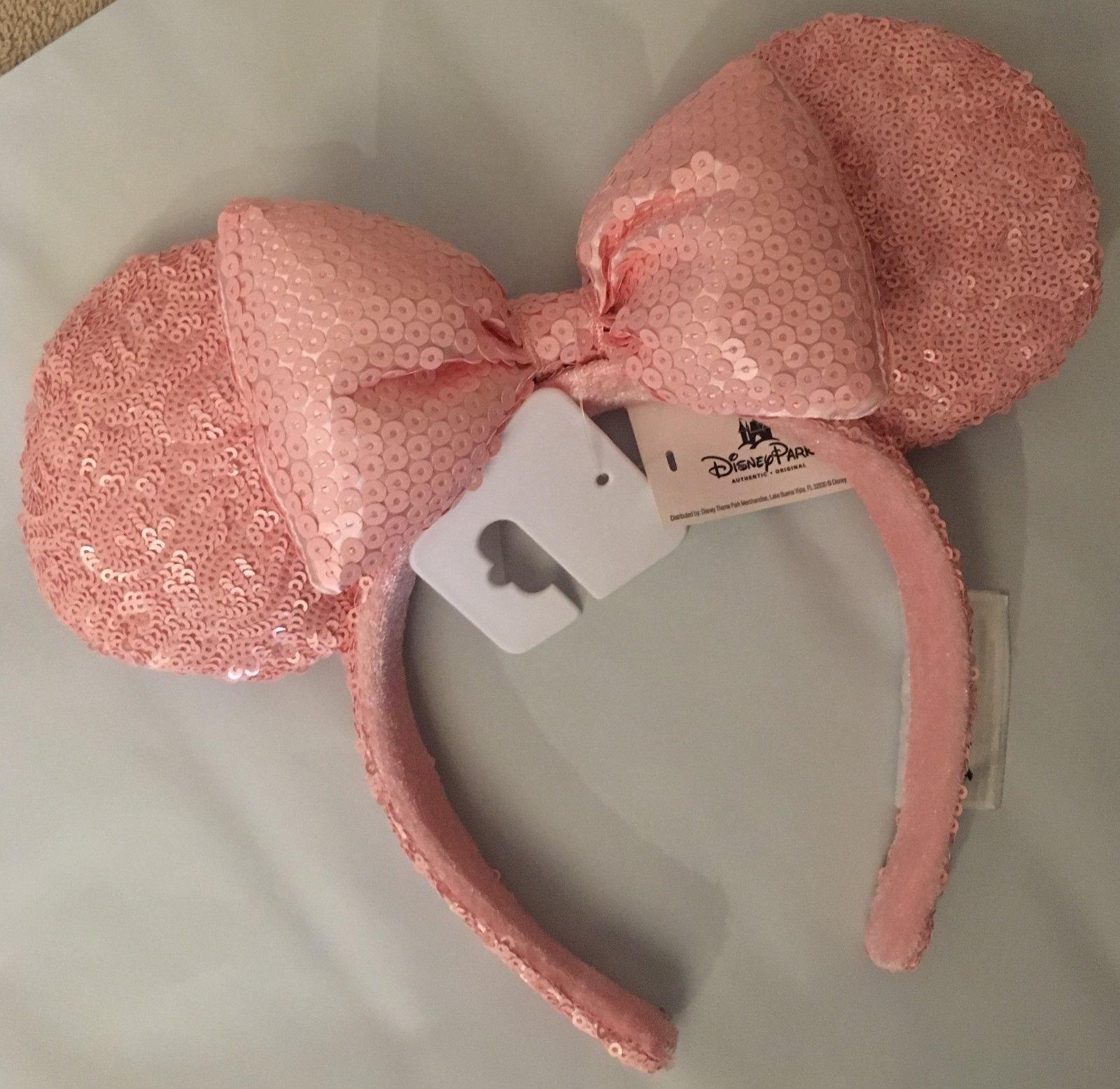 Disney Parks Millennial Pink Minnie Mouse Ears Bow Headband