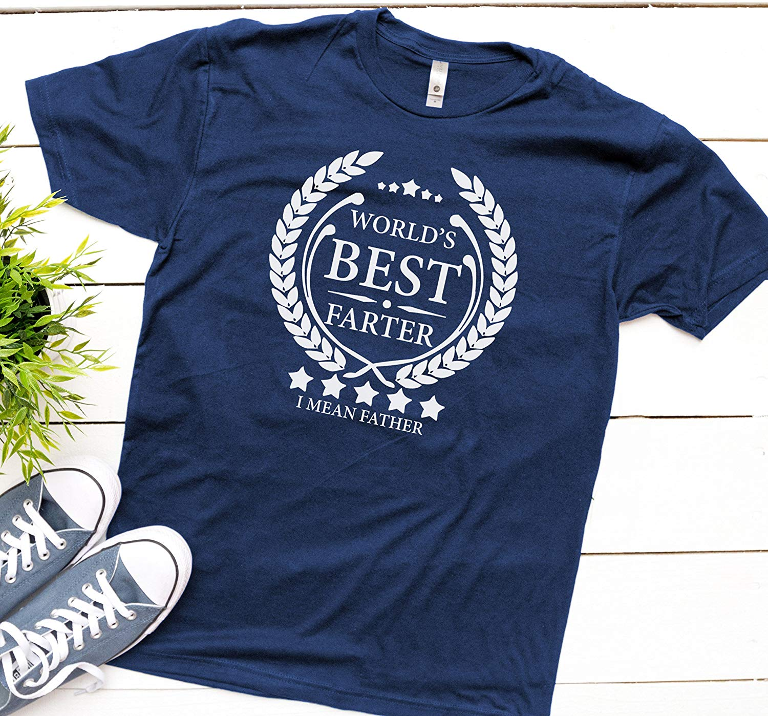 8eb15c29 Get Quotations · World's Best Farter, I Mean Father T Shirt Fathers Day  Gift, Husband Shirt Funny