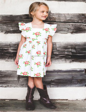 Wholesale childrens clothing boutique valentines day baby frock designs fancy dress