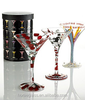 Promotional hand painted cocktail glass/fancy martini glass for party